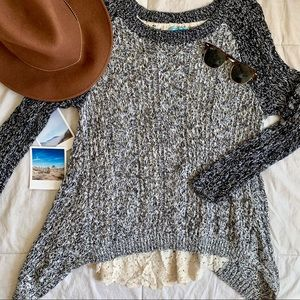 Anthropologie Leif Notes Lace Marlee Sweater
